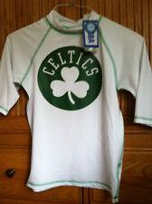 Boston Celtics Shirt. Kids. Large 14/16. White with Logo. Brand New. Swim Shirt