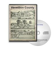 Vermilion County, Illinois IL History Culture Biography Genealogy 8 Books - D335