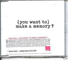 bon jovi-- (you want to) make a memory   promo cd