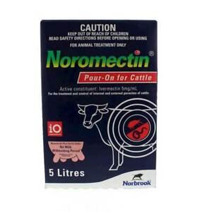 Noromectin Cattle Drench Pour-On 5 Litre (Equiv, Ivomec Ausmectin)
