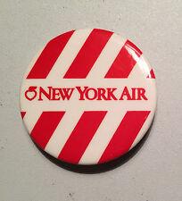 New York Air Airlines Unaccompanied Minor Child UM Pinback Button Apple Air