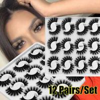 Cruelty-free Natural Long Lash Extension False Eyelashes 3D Faux Mink Hair