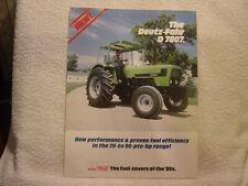 DEUTZ-FAHR TRACTOR D7807 1982 sales brochure