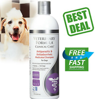 DOG SHAMPOO Antiparasitic Medicated Veterinary Clinical Pet Skin Care 16oz