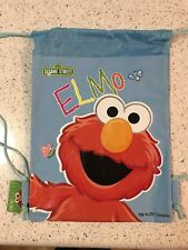 Blue Sesame St Elmo Drawstring Backpack Kids Sling Tote Gym Bag Birthday Gift