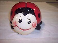 "Ladybug Ceramic Bank,   5""  x  4-1/2"""
