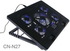 "Multi-Angle Stand Cooling Pad for 12 to 17"" Laptop w/5 Fans & USB Port"
