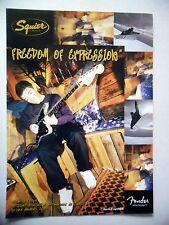 PUBLICITE-ADVERTISING :  Guitare FENDER Squier  04/2002 Mathieu Crepel,Snowboard