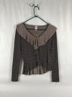 Sour Pop Brown and Pink Polka Dots Woman's Shirt