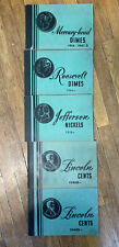 "Lot of 5 old coin albums, Meghrig ""Popular"" from the 1950's. Used."