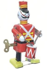 Soldier Drummer  Wind Up Tin Toy