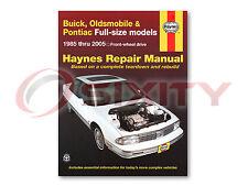 Buick LeSabre Haynes Repair Manual Base T-Type Limited Custom Estate Wagon jy