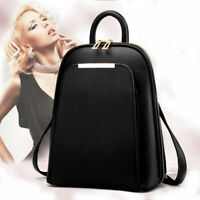 Fashion Women Leather Travel Lady Satchel Shoulder Bag Backpack School Rucksack
