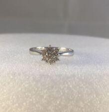 18ct White Gold 0.30ct Brilliant Cut Flower Cluster Diamond Ring  2g  NEW