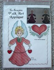 NIP Vintage Jo Sonja's Folk Art Applique Christmas Host of Angels Pattern