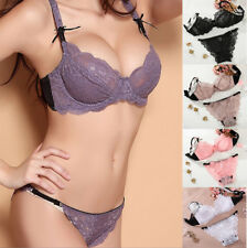 Uk Sexy See-through Honeymoon Bra and Panty Set Soft Lingerie Set 32-42 ABCD DDE