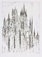 Paul Eliasberg (1907-1984) signierte Radierung, Kathedrale von Coutances, 1967