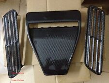 Carbon Fiber Hood Scoop Vent 3pcs Fit For 08-15 Lancer EVO X 10