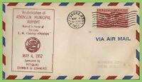 U.S.A. 1952 Airport Dedication, Atkinson Municipal Airport Pittsburg cover