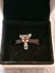 Genuine S925 Ale Pandora Rudolph The Red Nose Reindeer Christmas Charm