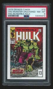 1978 Drake's Cakes Incredible Hulk #13 PSA 8 Just Graded! Tough Set!