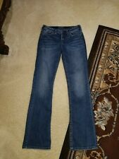 559bfdcd Pre-Owned SILVER Jeans Womens Jeans Size 28/33 | Suki High Slim Boot
