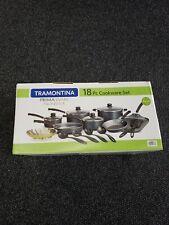 Tramontina 80119/545 PrimaWare Nonstick Cookware 18 Pieces - Steel Gray