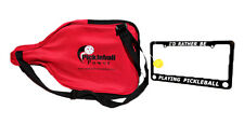 PICKLEBALL MARKETPLACE-Pro-Paddle Combo-Paddle Cover + License Frame + Key Chain