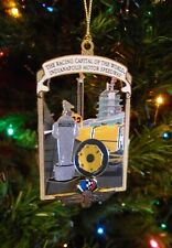 2020 Indianapolis Motor Speedway Christmas Brass Collector Ornament Indy 500
