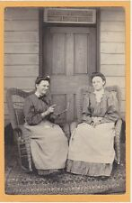 Real Photo Postcard RPPC -  Two Women Twins? Sisters? on Rattan Chairs