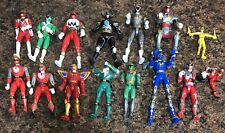 Huge lot of 15 vintage Mighty Morphin Power Rangers Figures Bandai 1993-2005