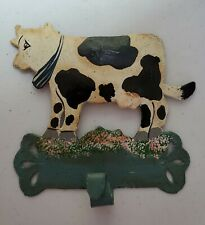 Hand Painted Metal Cow Hook