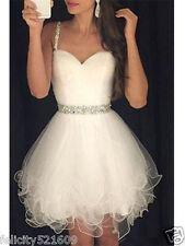 Short white/ivory Bridal Gown Wedding Dress Custom Size 4-6-8-10-12-14-16-18-20+