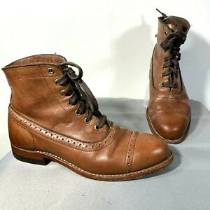 Wolverine 1000 Mile Leather Lace Up Boot Cap Toe Brown 8.5 B Thursday Alternativ