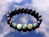 Tourmaline African Turquoise 10mm Natural Gemstone Bracelet 6-9'' Elasticated