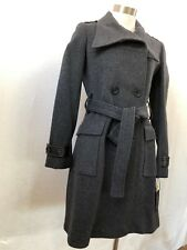 NWT Marc New York Andrew Marc GREY Cashmere/Wool Blend Lined Belted Coat Size 6