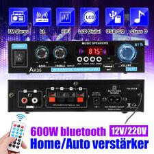 600W bluetooth HiFi Verstärker Stereo Mini Power Amplifier Bass USB SD ClassD DE