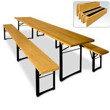 Bierzeltgarnitur 220cm Festzeltgarnitur Gartenmöbel 3er Set Bank Tisch Klappbar