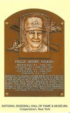 Postcard Phil Niekro Baseball Hof Hall of Fame Atlanta Braves Cooperstown Mint