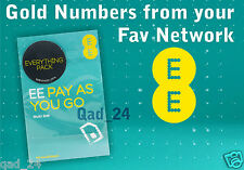 EASY GOLD PLATINUM VIP SIM CARD MOBILE PHONE NUMBERS LIST ON THE EE UK NETWORK