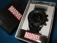 Men's Marvel Comics The Avengers A Assemble Black Rubber Strap Sport Wrist Watch