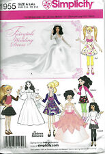 Simplicity 1955 3 Sizes Doll Clothes Pattern Barbie Bratz Moxie Wedding Gown