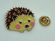 hedgehog hat pin Gift idea  enamel gold tone gift idea gift stocking stuffer #9