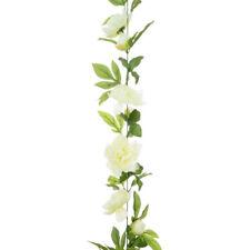 Artificial Silk Peony Garland 180cm Cream White
