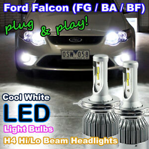 Pair of Plug-and-Play H4 Hi/Lo LED Bulbs to suit Ford Falcon BA BF FG Headlight