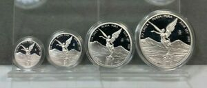 2018 PROOF LIBERTAD ~ MEXICO ~ 1/2 1/4 1/10 1/20 OZ Proof Silver Coin Set