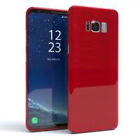 Schutz Hülle für Samsung Galaxy S8 Plus Brushed Cover Handy Case Rot