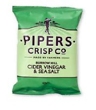 Pipers Crisps Burrow Hill Cider Vinegar & Sea Salt 3 Case sizes available
