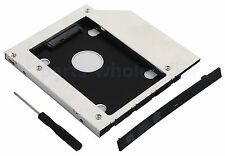 9.5mm SATA 2nd HDD SSD Case Hard Drive Caddy for Universal Laptop CD DVD-ROM ODD