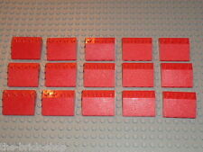 15 x tuiles pour toits LEGO red Slope Brick roof ref 3297 / Maison gare train